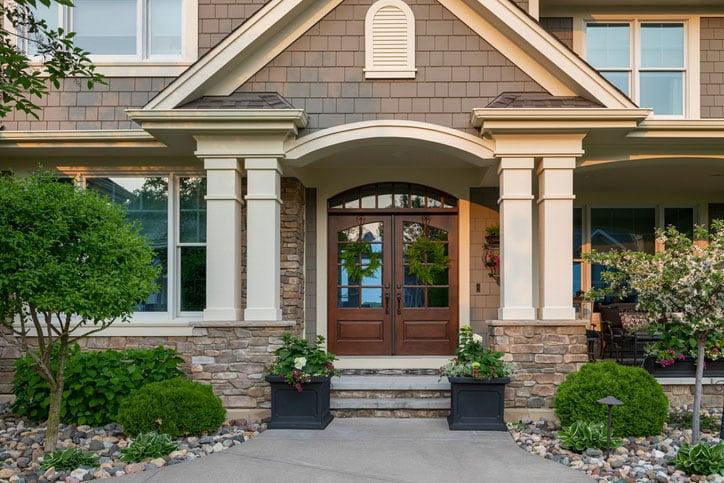 Beautiful home front door view.
