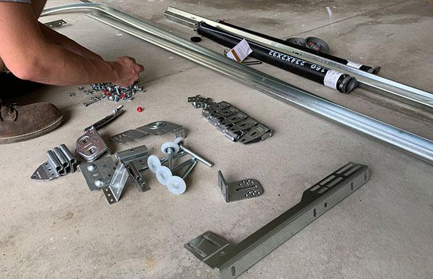 Garage Door Parts in Michigan On Concrete