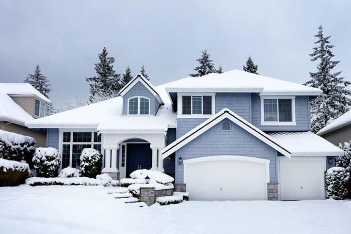 Michigan home in winter.