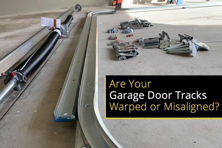 New Garage Door Tracks on Concrete Floor