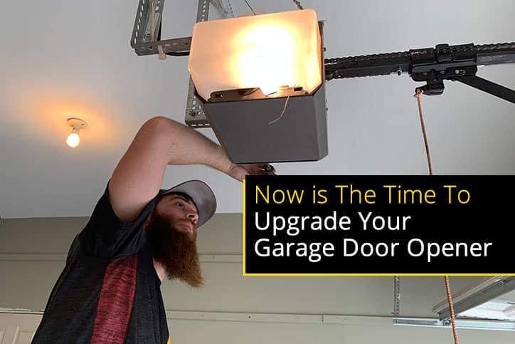 Garage Door Technician Installing Garage Door Opener