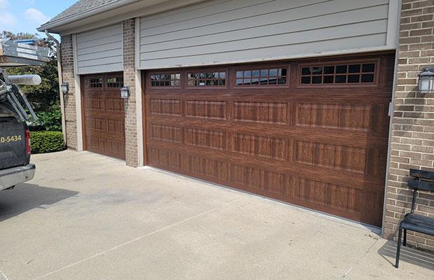 Brown Garage Door Parts Replaced in Lowell MI