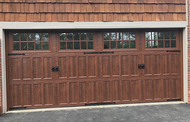 Brown Garage Door After Service in Grandville MI